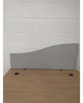 Light grey straight desk divider - 1200