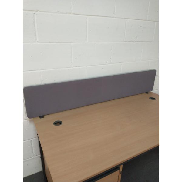 Grey straight desk divider - 1550
