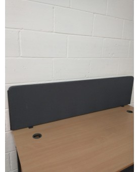 Grey straight desk divider - 1600