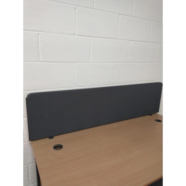 Grey straight desk divider - 1600