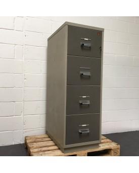 4 drawer Chubb Fireproof filing cabinet