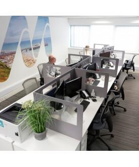 Cardboard grey desk screen- 1600 x 800