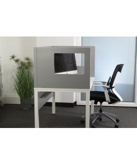 Cardboard grey desk screen- 1200 x 800