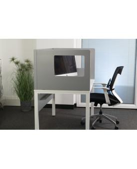 Cardboard grey desk screen- 1400 x 800