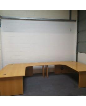 Solid beech desk suite