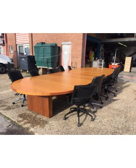 Dark oak executive boardroom table- 5 metres