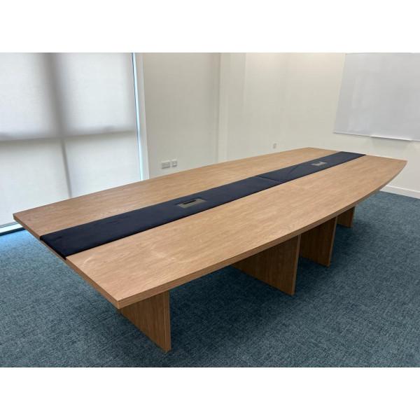 Dark oak executive boardroom table- 5 metres