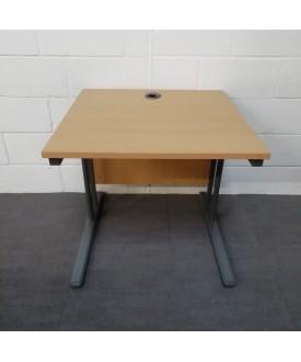 Beech straight desk- 800 x 800