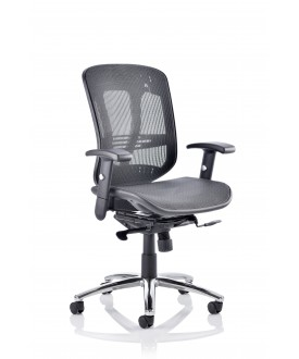 Mirage II Executive Chair Black Mesh With Arms