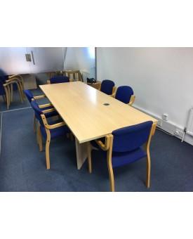 Maple boardroom table- 2400 x 900