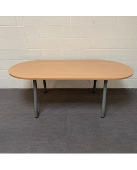 Beech meeting table- 2100 x 1000