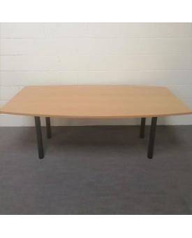 Beech meeting table- 2000 x 1000
