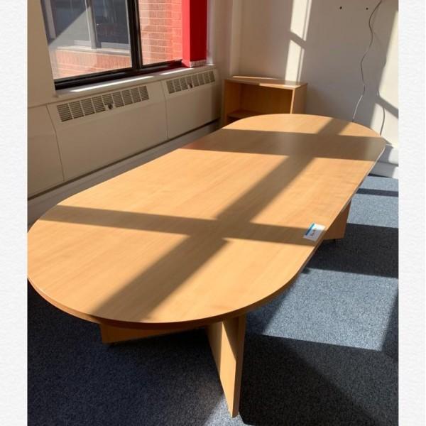 Beech meeting table- 2400 x 1000