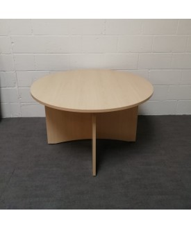 Circular 1200 maple meeting table