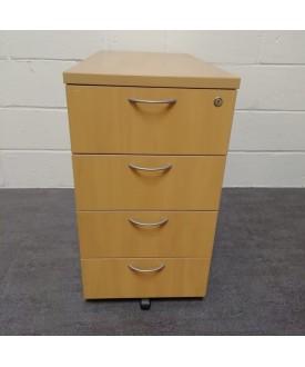 Beech desk high pedestal- 800