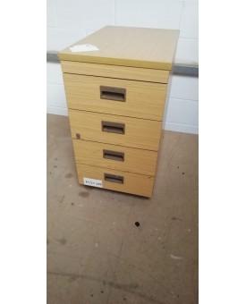 Oak desk high pedestal- 600