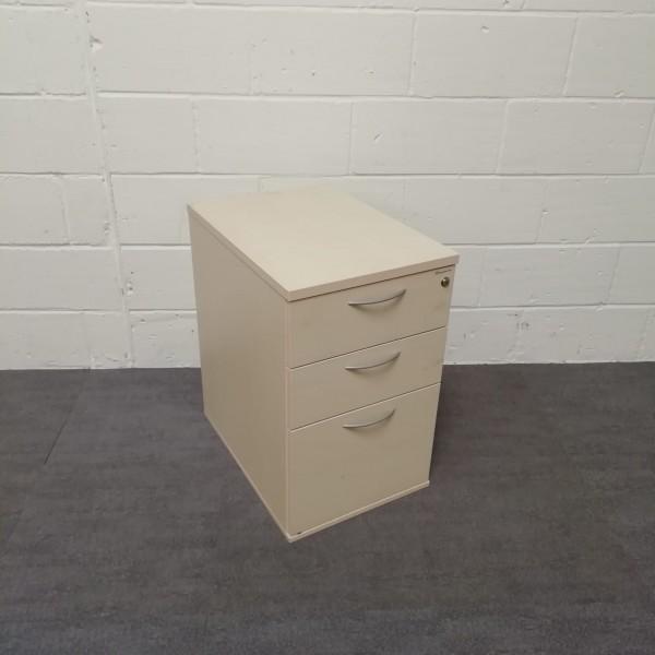 Maple under desk pedestal