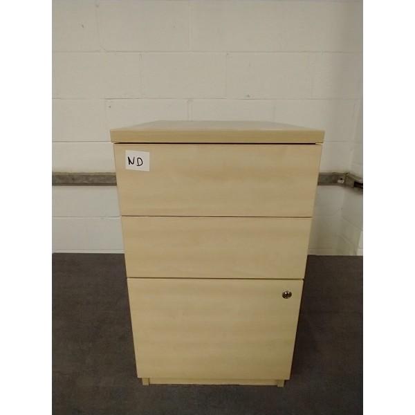 Maple desk high pedestal- 3 drawer