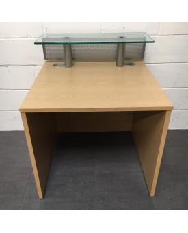 Oak reception desk- 800 x 800 x 740