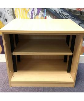 Maple desk high bookshelf