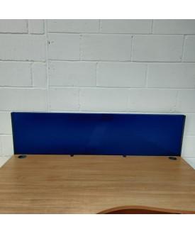 Blue straight desk divider - 1600