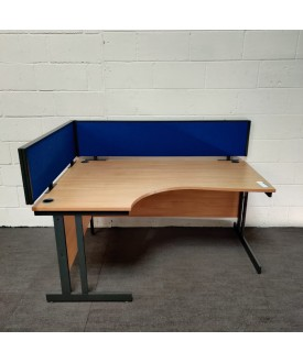 Blue straight desk divider set - 1600 and 1200
