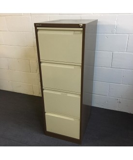 Brown Bisley Filing Cabinet- 4 Drawer