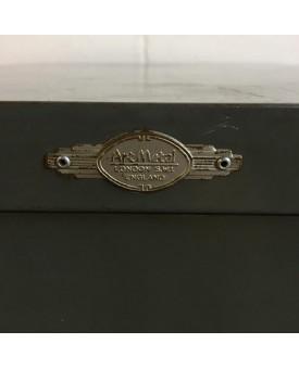 Vintage grey filing cabinet