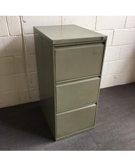 Grey filing cabinet- three drawer