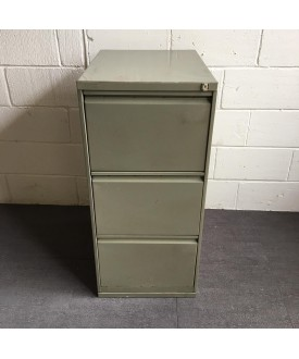 Grey filing cabinet- three drawer