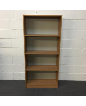 Beech three shelf bookcase