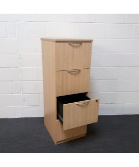 Maple 4 drawer filing cabinet