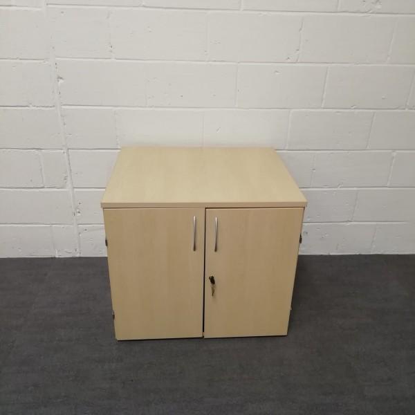 Maple desk high cupboard- one shelf