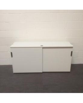 White sliding door lockable cupboard