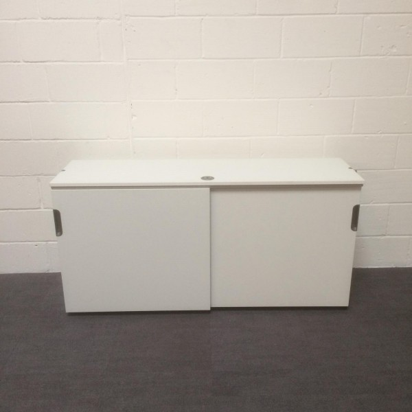 White sliding door lockable cupboard