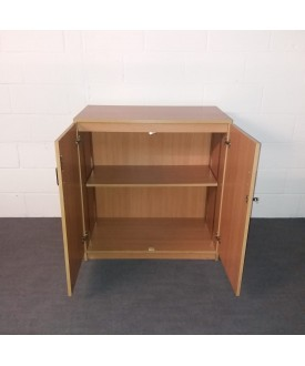 Oak one shelf cupboard