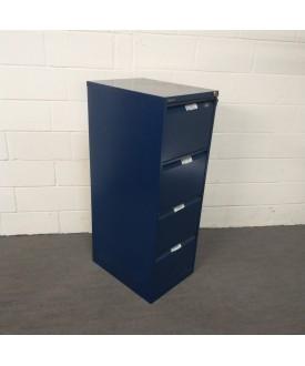 Blue Bisley filing cabinet- 4 drawer