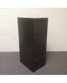 Black Bisley fling cabinet- 4 drawer