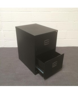 Black fling cabinet- 2 drawer
