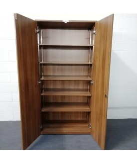 Walnut Five Shelf Cupboard