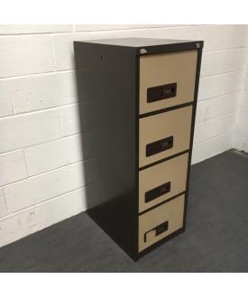 Brown Filing Cabinet- 4 Drawer