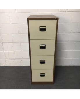 Brown Filing Cabinet- 4 Drawer