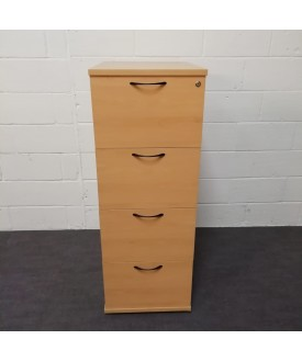 Beech 4 drawer filing cabinet