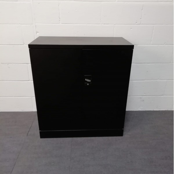 Black one shelf cupboard