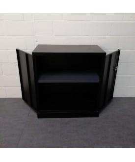 Black one shelf cupboard
