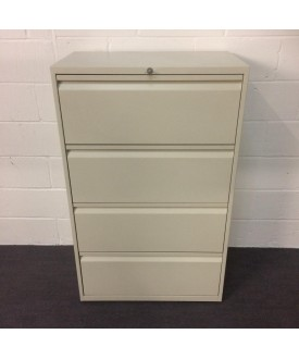 White lateral filer- 4 drawer