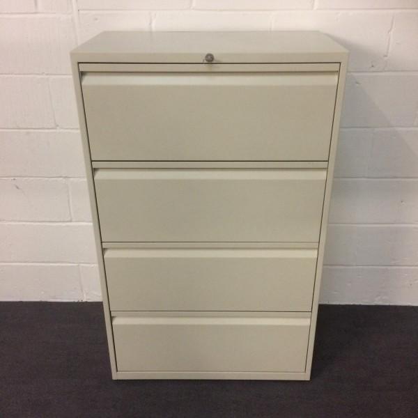 White lateral filer- 4 drawer