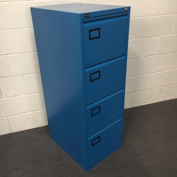 Blue Triumph Filing Cabinet- 4 Drawer