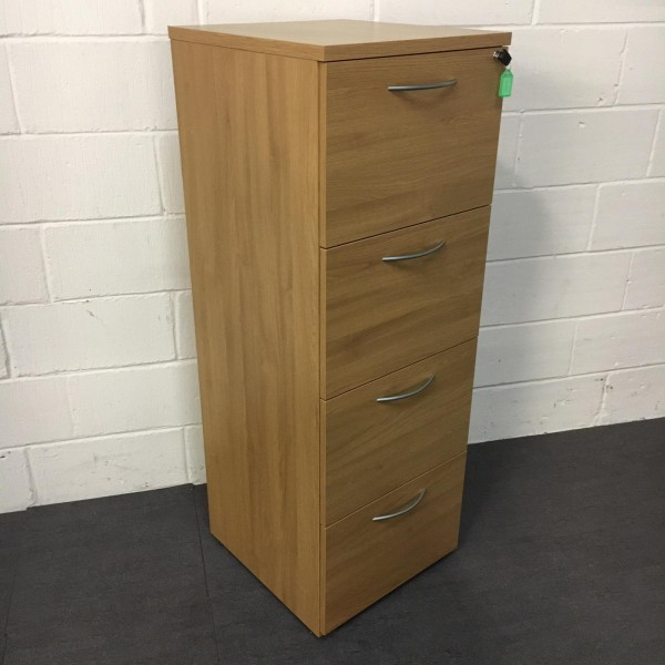 Oak Filing Cabinet- 4 Drawer