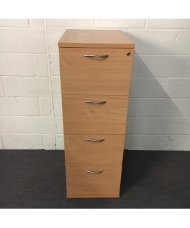 Beech Filing Cabinet- 4 Drawer